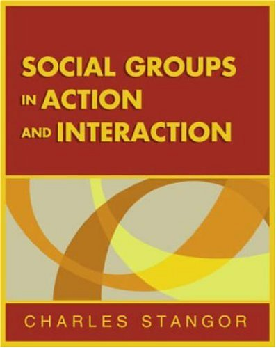 Social Groups in Action and Interaction   2004 edition cover