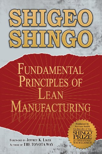 Fundamental Principles of Lean Manufacturing:  2009 edition cover