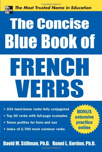 Concise Blue Book of French Verbs   2011 9780071761079 Front Cover