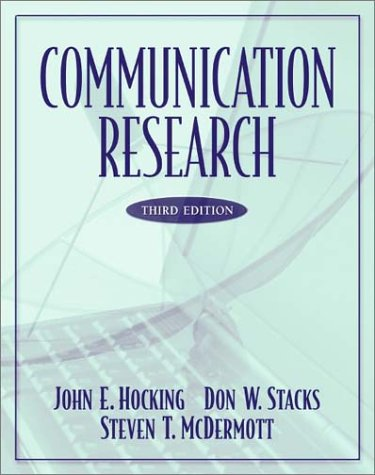 Communication Research  3rd 2003 edition cover