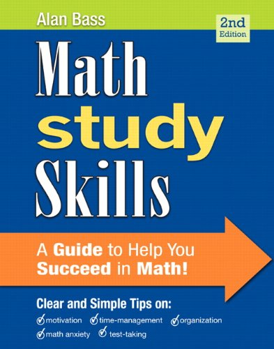 Math Study Skills  2nd 2013 edition cover