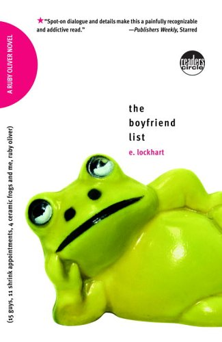 Boyfriend List 15 Guys, 11 Shrink Appointments, 4 Ceramic Frogs and Me, Ruby Oliver Reprint edition cover