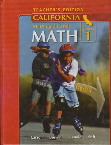 Math California Course 1: Teacher Edition  2007 9780618807079 Front Cover
