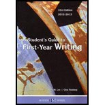 STUDENT'S GDE TO FIRST YEAR WR N/A 9780738051079 Front Cover