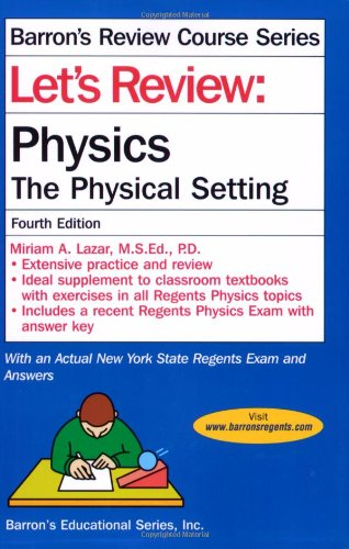 Let's Review Physics  4th 2012 (Revised) edition cover
