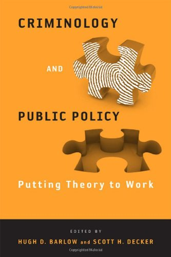 Criminology and Public Policy Putting Theory to Work  2009 edition cover