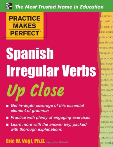 Spanish Irregular Verbs up Close   2011 edition cover