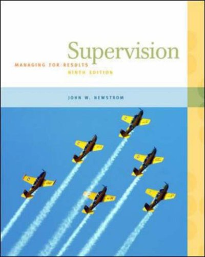Supervision Managing for Results 9th 2007 (Revised) edition cover