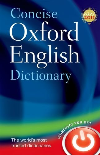 CONCISE OXFORD ENGLISH DICTIONARY  12th 2011 edition cover