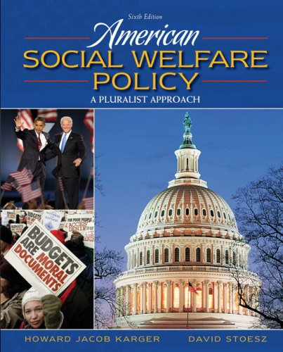 American Social Welfare Policy  6th 2010 edition cover