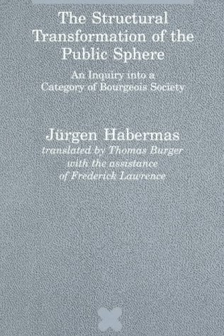 Structural Transformation of the Public Sphere An Inquiry into a Category of Bourgeois Society  1989 edition cover