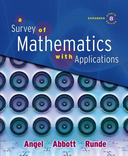 Survey of Mathematics with Applications  8th 2009 (Expurgated) edition cover