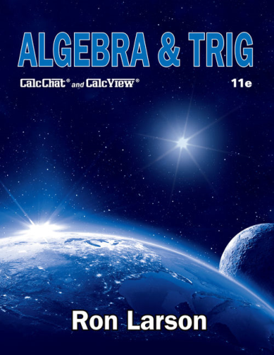 Cover art for Algebra & Trig, 11th Edition