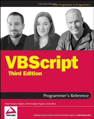 VBScript Programmer's Reference  3rd 2007 (Revised) edition cover