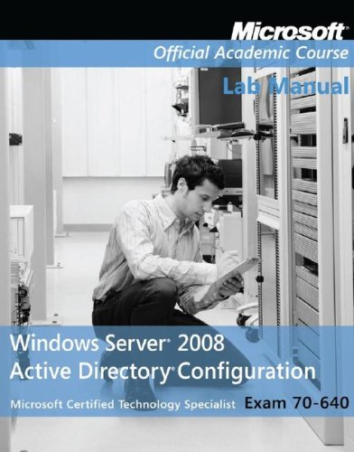 Windows Server 2008 Active Directory Configuration Exam 70-640  2009 edition cover