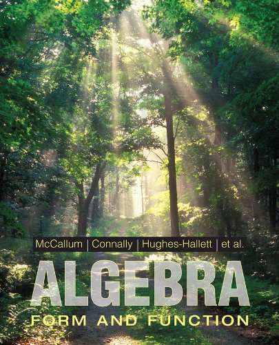 Algebra Form and Function  2010 edition cover