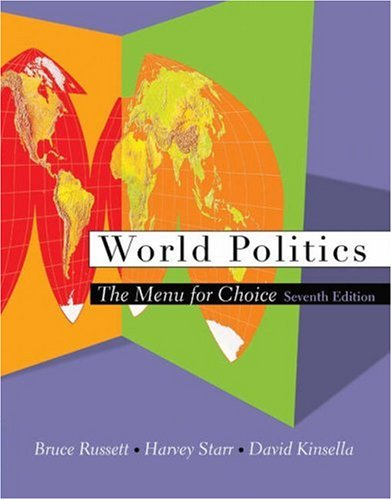 World Politics The Menu for Choice 7th 2003 9780534604080 Front Cover
