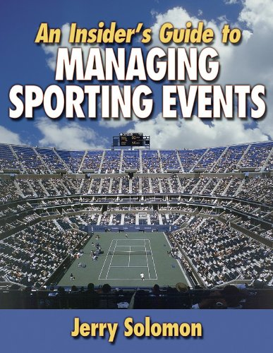 Insider's Guide to Managing Sporting Events   2002 edition cover