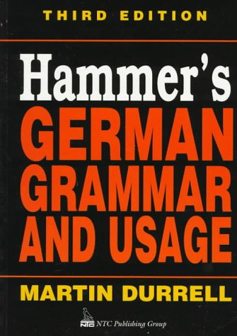 Hammer's German Grammar and Usage 3rd 1996 edition cover