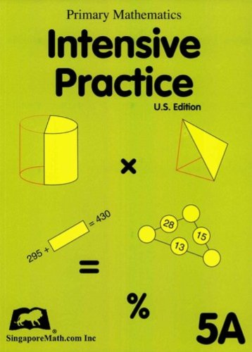 Primary Mathematics Intensive Practice U. S. Edition 5A  2004 edition cover