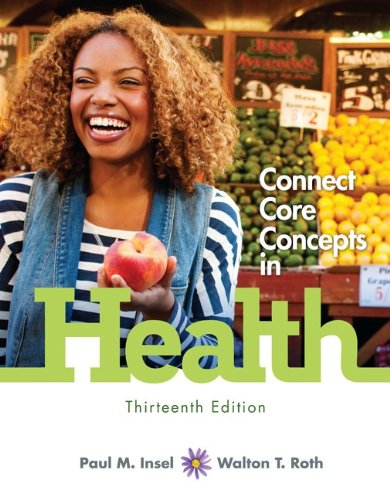 Connect Core Concepts in Health  13th 2014 9780077805081 Front Cover