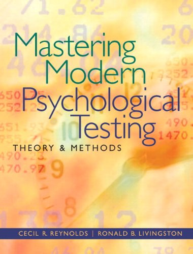 Mastering Modern Psychological Testing Theory and Methods  2012 edition cover