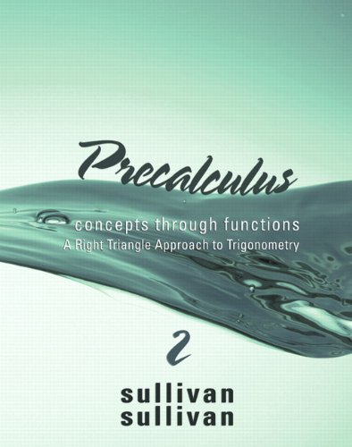 Precalculus Concepts Through Functions, a Right Triangle Approach to Trigonometry 2nd 2011 edition cover