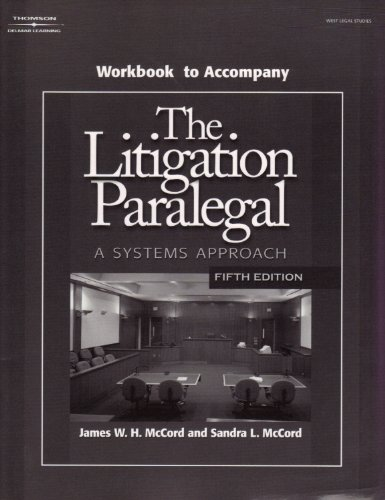 Litigation Paralegal: A Systems Approach Student W  5th 2008 edition cover