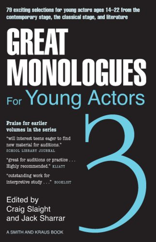 Great Monologues for Young Actors N/A edition cover
