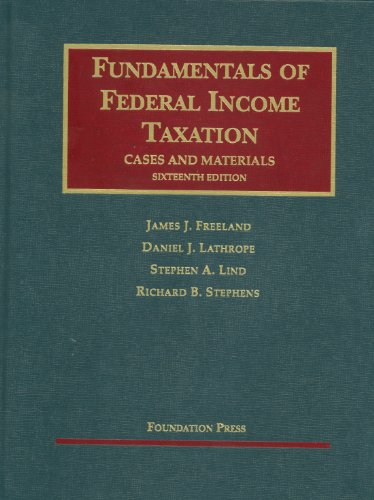 Fundamentals of Federal Income Taxation  16th 2011 (Revised) edition cover