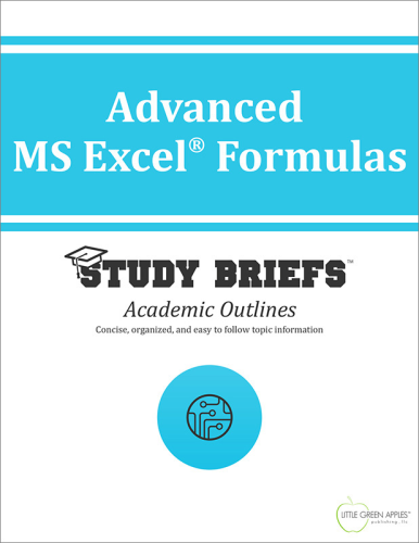 Advanced MS Excel Formulas cover
