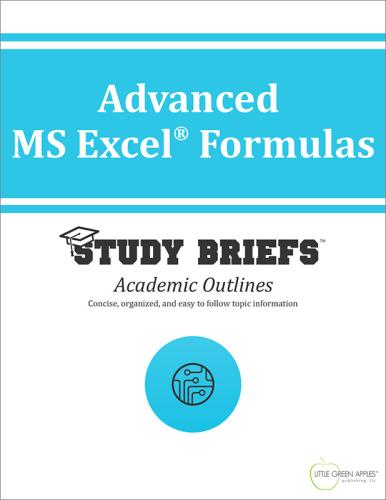 Advanced MS Excel® Formulas 1st 2015 9781634261081 Front Cover