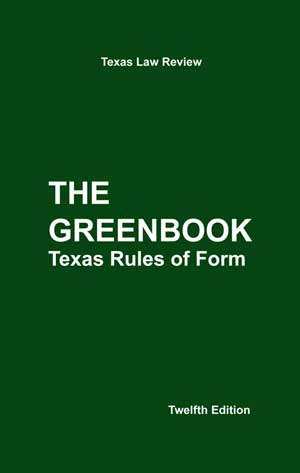 TEXAS RULES OF FORM N/A edition cover