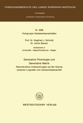 Generative Phonologie und Generative Metrik   1981 edition cover