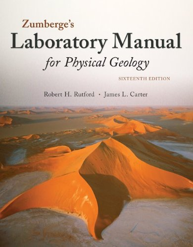 Laboratory Manual for Physical Geology:   2013 edition cover