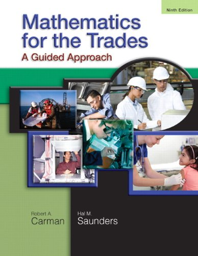 Mathematics for the Trades A Guided Approach 9th 2011 edition cover