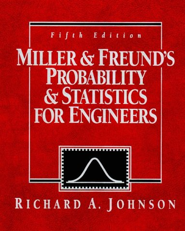 Probability and Statistics for Engineers  5th 1994 9780137214082 Front Cover
