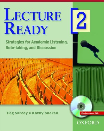 Strategies for Academic Listening, Note-Taking, and Discussion   2006 (Student Manual, Study Guide, etc.) 9780194417082 Front Cover