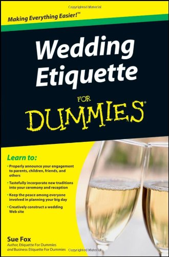 Wedding Etiquette for Dummies   2010 edition cover
