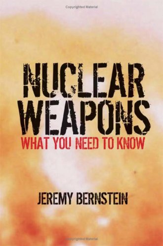 Nuclear Weapons What You Need to Know  2008 9780521884082 Front Cover
