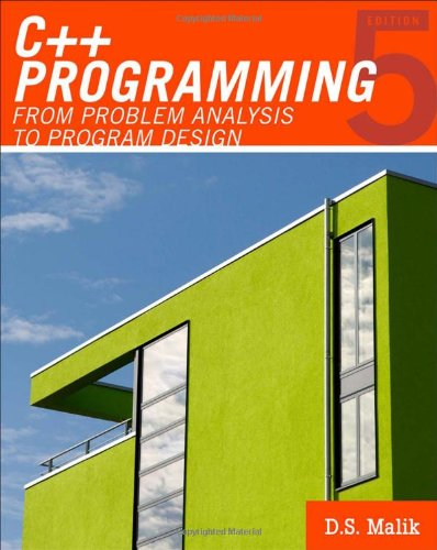 C++ Programming From Problem Analysis to Program Design 5th 2011 9780538798082 Front Cover