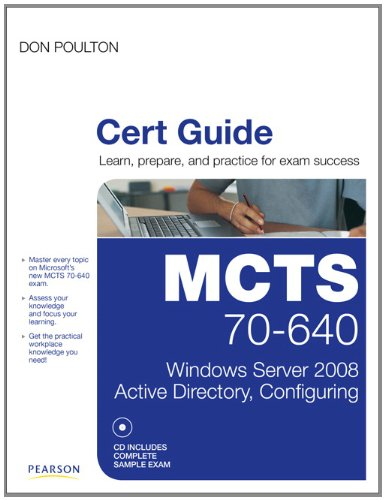 MCTS 70-640 Cert Guide Windows Server 2008 Active Directory, Configuring  2011 edition cover