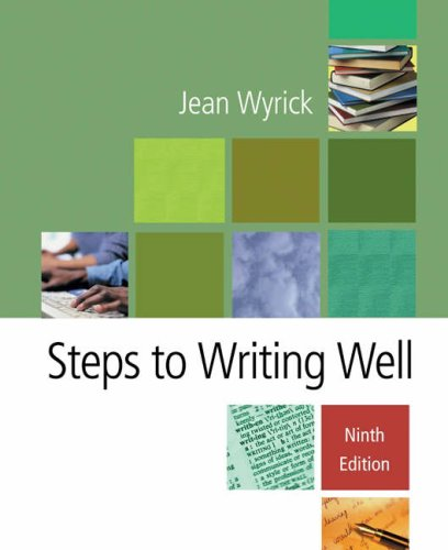 Steps to Writing Well  9th 2005 edition cover