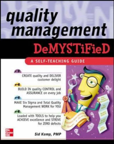Quality Management Demystified   2006 edition cover
