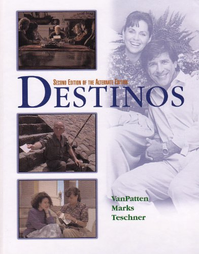 Destinos: An Introduction to Spanish 2nd 2001 edition cover
