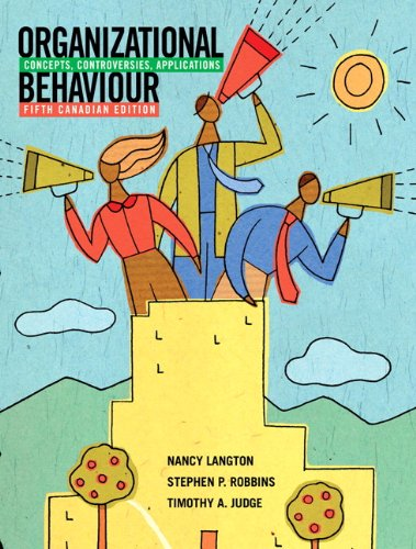ORGANIZATIONAL BEHAVIOUR-W/CD> N/A 9780135084083 Front Cover