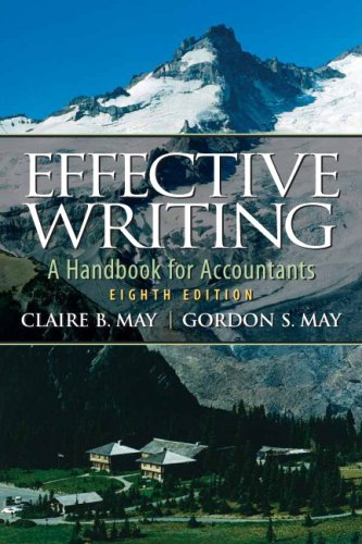 Effective Writing A Handbook for Accountants 8th 2009 edition cover