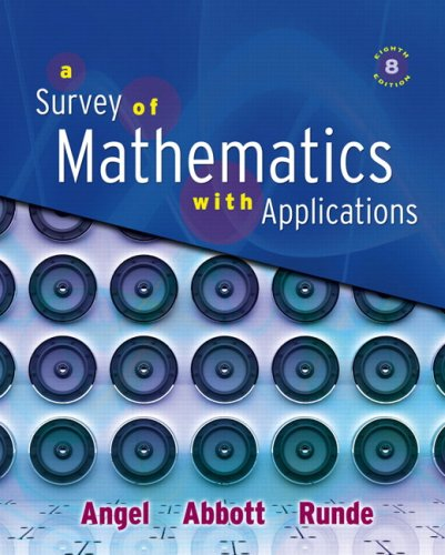Survey of Mathematics with Applications Value Package (includes Student's Solutions Manual for A Survey of Mathematics with Applications)  8th 2009 edition cover