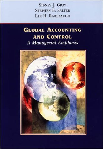 Global Accounting and Control A Managerial Emphasis  2001 edition cover