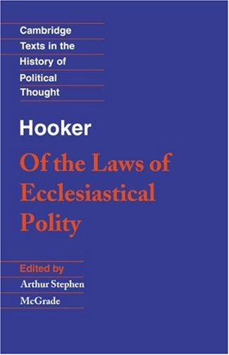 Hooker Of the Laws of Ecclesiastical Polity  1989 edition cover
